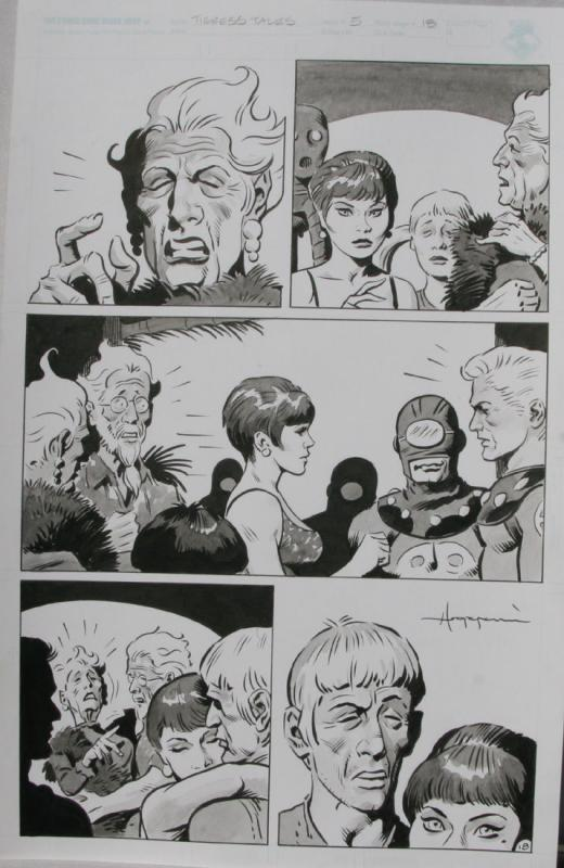 TIGRESS TALES #5 Original Mike Hoffman art, Page #18, Signed, published