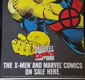 Marvel Comics X-MEN Marks The Spot 1991 Poster see note