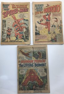 Strange Tales 112- 1st ELL, Tales to Astonish #57, 61, Early Spider-Man app