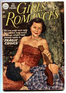 GIRLS' ROMANCES #2 comic book 1950-DC-ALEX TOTH-MARTIN UKULELE