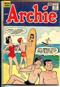 Archie #140 1963-surfboard-swimsuit-Betty-Veronica-VG-
