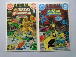 All Star Squadron Lot From:#1-67+Ann, 58 Diff. Avg 7.0 Range 6.0-8.0 (1981-1987)
