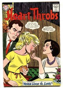 Heart Throbs #83 1963- DC Romance- love triangle cover FN-