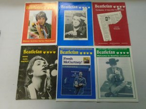 Beatlefan Magazine lot of 12 different early Paul McCartney issues