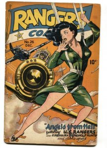 Rangers Comics #26 1946-Classic HEADLIGHT cover-Fiction House