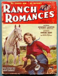 Ranch Romances Pulp 2nd November 1954-Cowboy Lawyer- Empire West VG