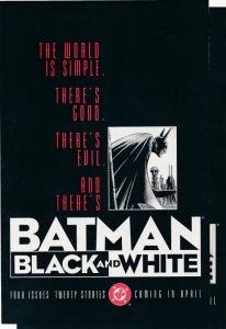 DC Comics 2x BATMAN Black & White Preview Issue FINE Lower grade copies (HX654)