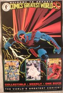 Comics Greatest World : X Promo poster, 1993, Unused, more in our store