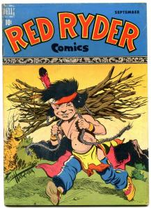 Red Ryder #62 1948-Dell-Little Beaver solo cover-Fred Harmon-Western-FN