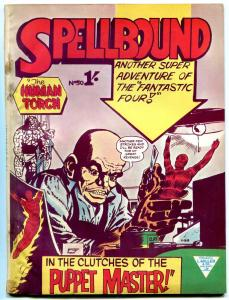 SPELLBOUND #50 1964 FANTASTIC FOUR BRITISH COMIC FN