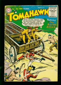 TOMAHAWK #40 1956- DC WESTERN -REDCOAT COVER- SILVER AGE G