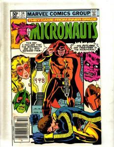 12 The Micronauts Marvel Comic Books #22 23 24 25 26 27 28 29 30 31 32 33 JF25