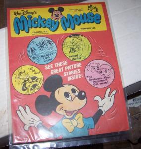 mickey mouse weekly magazine ( uk) # 125  mar 11 1978 disney donald duck rescuer