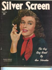 Silver Screen-Paulette Goddard-Lucille Ball-Geraldine Brooks-Sept-1949