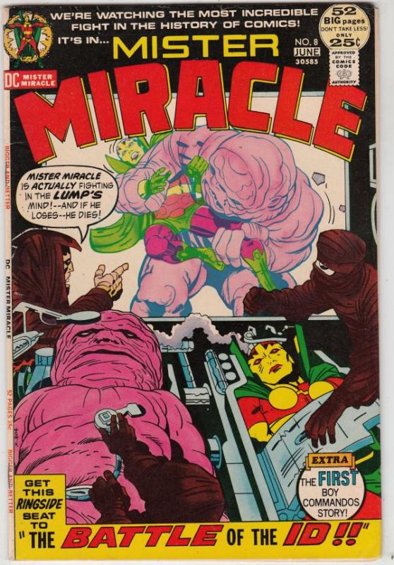 Mister Miracle #8 (Jun-72) VF/NM High-Grade Scott Free (Mister Miracle), Big ...