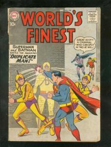 WORLD'S FINEST #106 1959-SUPERMAN-GREEN ARROW-BATMAN-DC G