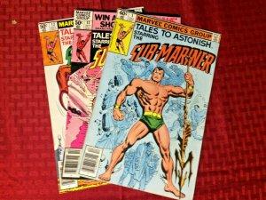 Tales To Astonish 3 Set Lot 1979  Sub-Mariner #'s 1, 11, and 12 FN/VF Marvel