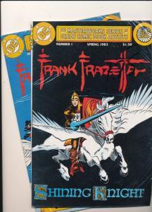 2  DC COMICS-FRANK FRAZETTA #1 & #2  Reprints VG/FINE (SIC243)