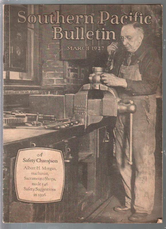 Southern Pacific Bulletin 3/1927-railroad emplyee publication-pix-info-FN