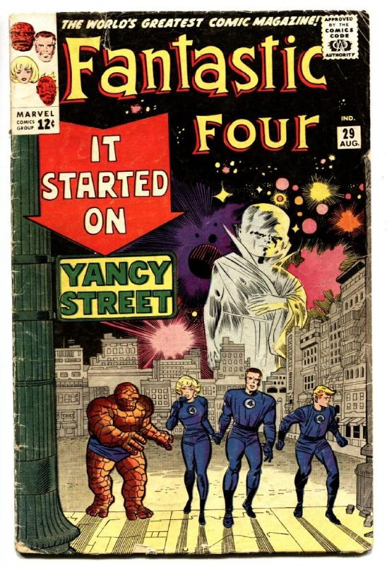 FANTASTIC FOUR-#29 comic book-1964-YANCEY STREET-JACK KIRBY ART