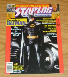 Starlog #142 VF/NM batman - swamp thing - indiana jones - baron munchausen 1989