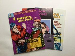 Comics Journal 108-110 Magazine Lot Near Mint- Nm- 9.2 Pacific Comics