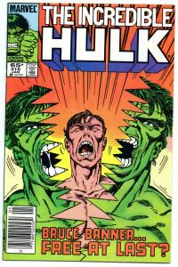 HULK #315, VF, Incredible, John Byrne, 1968 1986, more Marvel in store, UPC