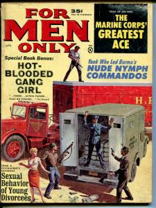 For Men Only 4/1964-Atlas-armored car robbery-Anette Johnson cheesecake-G/VG