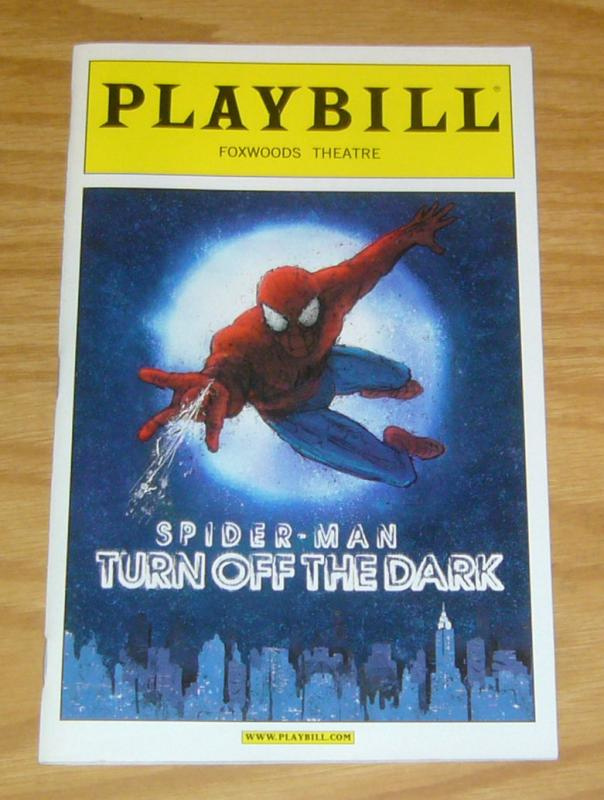 Playbill: Spider-Man Turn Off The Dark VF foxwoods theatre - january 2011