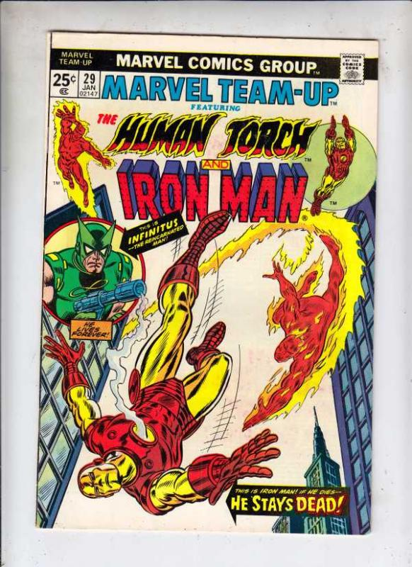 Marvel Team-Up #29 (Jan-75) NM- High-Grade Iron Man, Human Torch