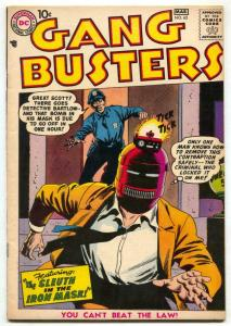 Gang Busters #62 1958- Iron Mask- tear seal FN-