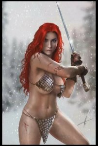 Red Sonja Age Of Chaos 2 C2E2 Carla Cohen  HOT!!!! ONLY 300 PRODUCED!!!!