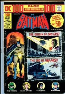 DC 100-PAGE SUPER SPECTACULAR #20-BATMAN-1973 VF-