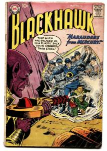 BLACKHAWK COMICS #136 comic book 1959-DC MARAUDERS FROM MERCURY-FLYING SAUCER