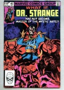 WHAT IF #40, VF/NM, Dr Strange, Dormammu, Mordo, Mystic, 1977 1983, Marvel