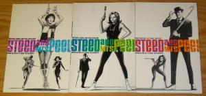 Steed and Mrs. Peel #1-3 VF/NM complete series + poster - grant morrison - set