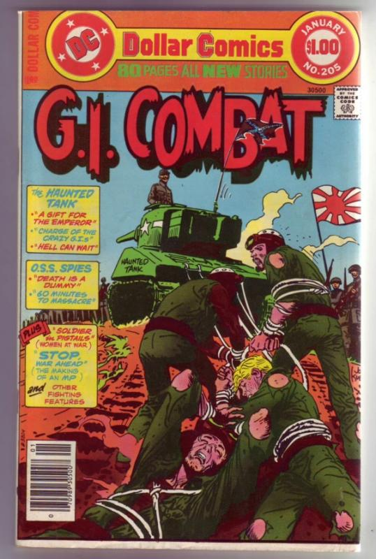 G.I. Combat #205 (Jan-78) NM- High-Grade The Haunted Tank