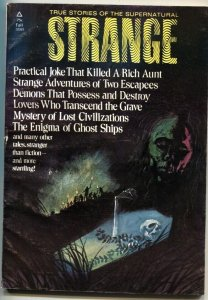 STRANGE #2-1972-TRUE STORIES OF THE SUPERNATURAL-PULP-UFO-LOST CIVILIZATIONS
