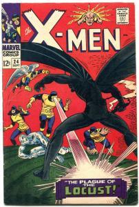 X-MEN #24 1966 MARVEL STAN LEE WERNER ROTH DICK AYRES FN