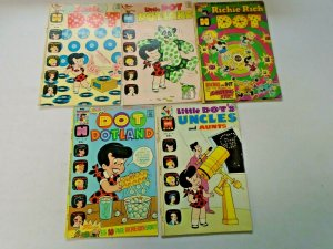 Little Dot Harvey Comic Lot 5 Different Very Good to Excellent Condition