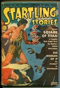 STARTLING STORIES 3/1941-THRILLING PUBS-EARLE BERGEY-WEINBAUM-good/vg