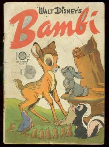 BAMBI-DELL FOUR COLOR COMICS #12 1942--WALT DISNEY FILM G