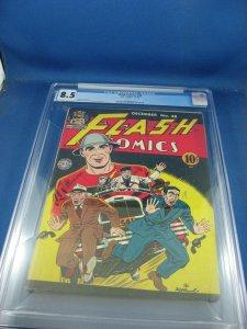 FLASH COMICS 48 CGC 8.5 HIGH GRADE JAY GARRICK CVR DC 1943 WOW GOLDEN AGE