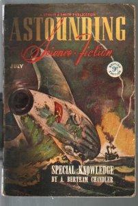 Astounding Science Fiction British Edition 7/1946-sci-fi pulp fiction-Simak-G