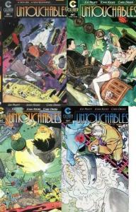 UNTOUCHABLES (1997 CALIBUR) 1B,2-4  KALUTA covers! COMICS BOOK