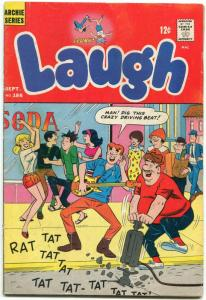Laugh Comics #186 1966- Archie- Betty- Veronica Rock and Roll cover VG