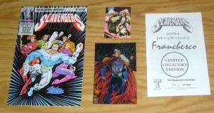 Scavengers #1 VF/NM signed ashcan + sketchbook - limited collector's edition