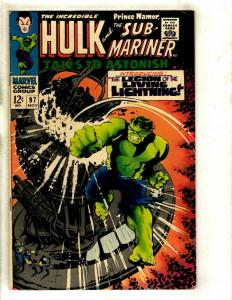 Tales To Astonish # 97 VF- Marvel Comic Book Hulk Sub-Mariner Avengers Thor GK3