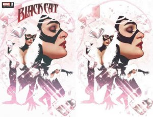 BLACK CAT 1 ADAM HUGHES VIRGIN & TRADE VARIANT 2 PACK SET