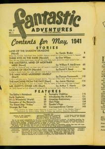 Fantastic Adventures Pulp May 1941-Land of the Shadow Dragons- Eando Binder POOR